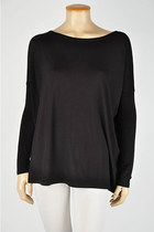 Buyer's Pick! Soft Bamboo Scoop Top [BLACK]