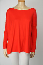 Buyer's Pick! Soft Bamboo Scoop Top [RED]