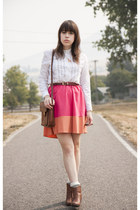 HIGH LOW COLORBLOCK SKIRT