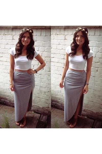 Split Side Maxi Skirt
