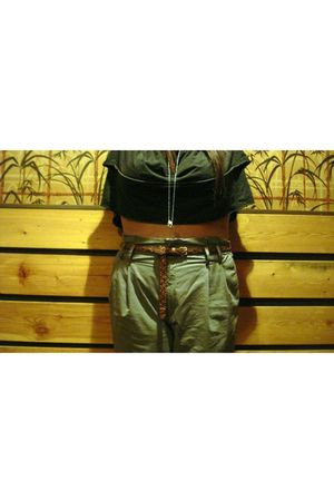 gray wilfred top - gray Zara pants - H&M belt