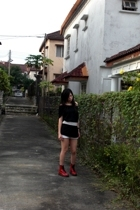 random from Bangkok t-shirt - H&M shorts - doc martens shoes - random from Bali