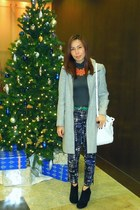 Zara boots - Zara coat - Mango bag - aboutique belt - H&M pants - Ebay necklace