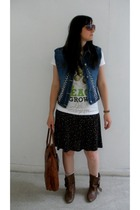DIY vest - TKmaxx t-shirt - Primark dress - Oasis sunglasses - Stead and Simpson