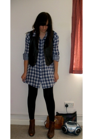 Lee Jeans shirt - vintage - Matalan leggings - H&M boots