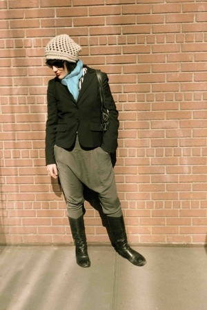 JCrew jacket - sartore boots