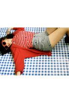 Vinatge top - vintage from Ebay shorts - Vinatge cardigan