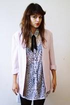 thrifted vintage blazer - Primark dress