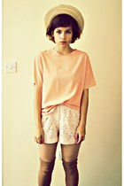 H&M shorts - vintage blouse