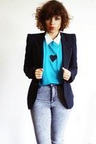handmade t-shirt - H&M jeans - asos blazer
