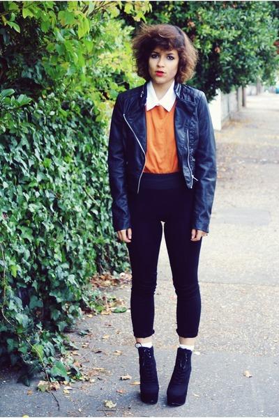asos shoes - Top Shop jacket - Zara pants