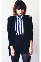 DIY blazer - Zara shorts