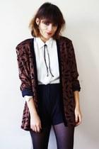 vintage blazer - Zara shorts