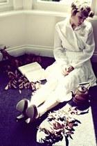skirt vintage skirt - blouse H&M blouse