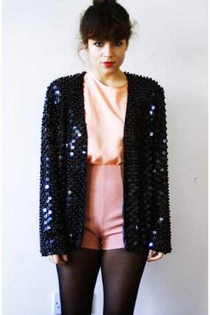 vintage blazer - H&M shorts - Zara top