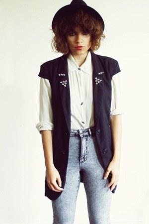 DIY vest - H&M pants