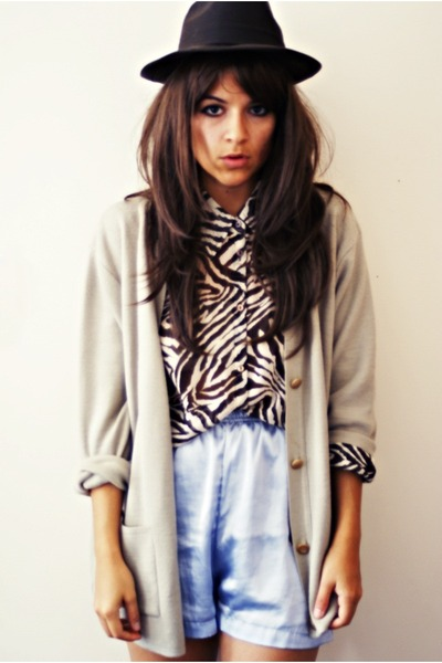 blouse - shorts - cardigan