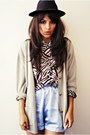 Shorts-blouse-cardigan