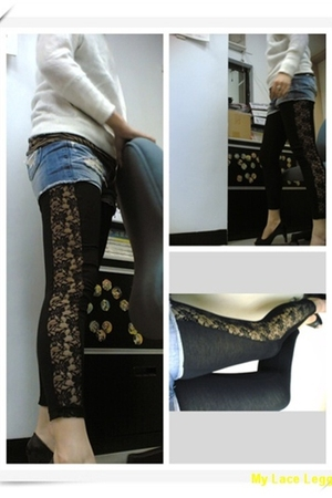 black yahoobit leggings