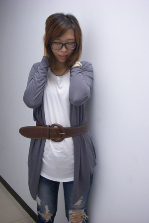 creamy rach top - from Korea jeans - calvin klein glasses - night market belt