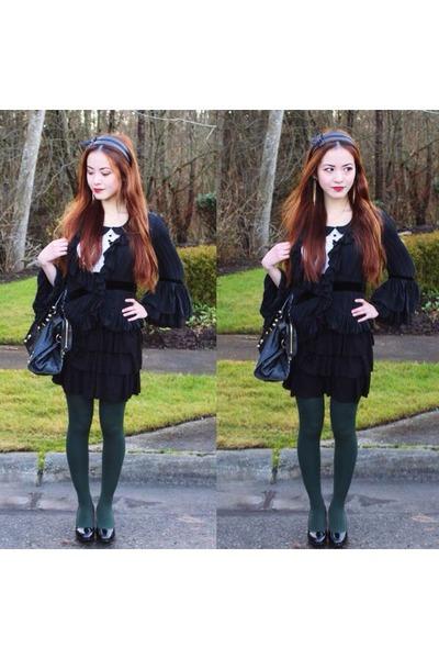black ootd Nanette Lepore blouse