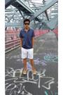 Burberry-shirt-express-shorts-ray-ban-sunglasses