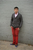 Armani Exchange cardigan - Vans shoes - Royal jeans