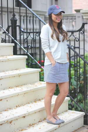 JCrew sweater - madewell skirt - Zara loafers