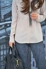 Acid-wash-helmut-lang-jeans-silk-everlane-shirt