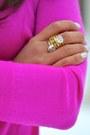Hot-pink-jcrew-sweater-light-pink-tweed-forever-21-skirt