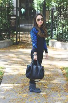 black sweater - black Alexander Wang bag