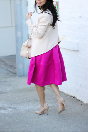 jacket Topshop blazer - dorsay vince shoes - midi Express skirt