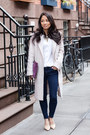 Duster-forever-21-coat-skinny-madewell-jeans-blouse-equipment-shirt