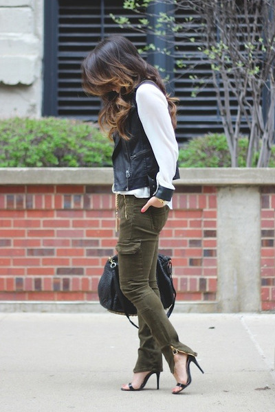 cebf435f Black Alexander Wang Bags, Army Green Cargo Ankle Zip Zara Jeans ...