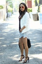 white fitted Topshop blazer - black rocco Alexander Wang bag