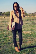 brown Emm Kuo bag - camel Old Navy boots - army green J Brand jeans
