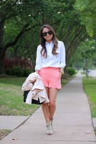 salmon scalloped Topshop shorts - peach fitted Topshop blazer