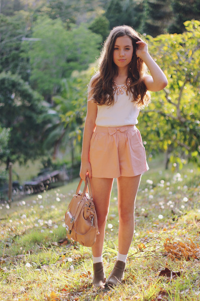 Light Pink Ankle Boots Light Brown Ankle Boots