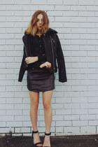 black MinkPink top - maroon Pixie Market skirt
