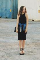black Pixie Market shoes - black black high neck Tobi dress