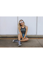 black converse Converse sneakers - heather gray jersey grey Thrills dress
