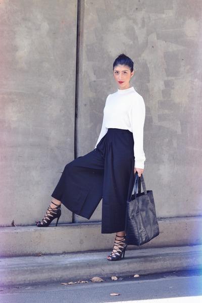black crocodile print sammydress bag - black Forever 21 pants