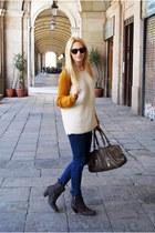 bronx boots - H&M jeans - Bershka jumper