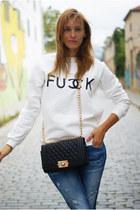 Romwecom bag - Sheinsidecom sweater - Zara flats