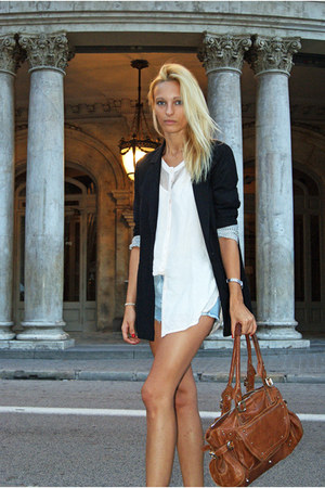 H&amp;M Trend blouse - Bershka blazer - clohe bag