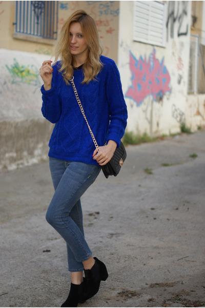 H&M Trend jumper - zalando boots - Topshop jeans