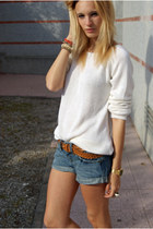 Massimo Dutti sweater - Topshop shorts