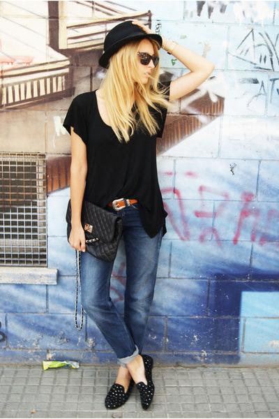 Topshop jeans - Zara blouse