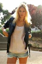 Topshop jacket - Zara shorts - Topshop blouse