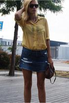 vintage blouse - Topshop skirt